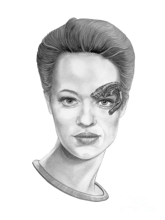 Jeri Ryan Seven Of Nine Drawing