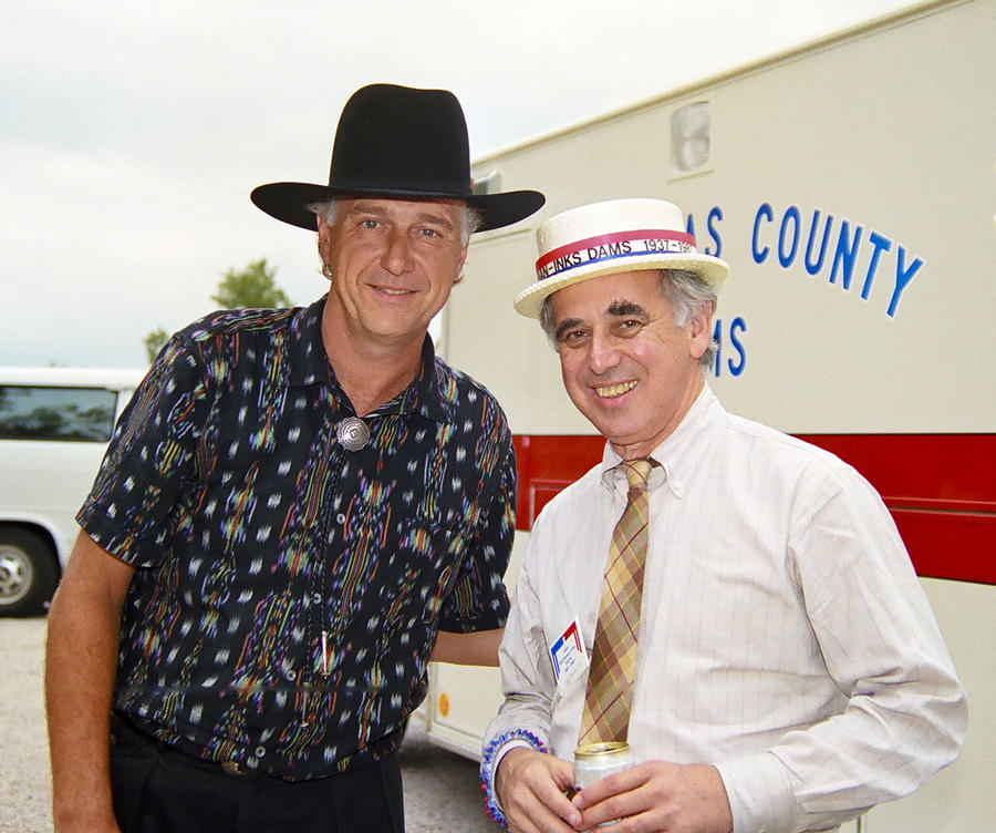 Jerry Jeff Walker And S. David Freeman Photograph