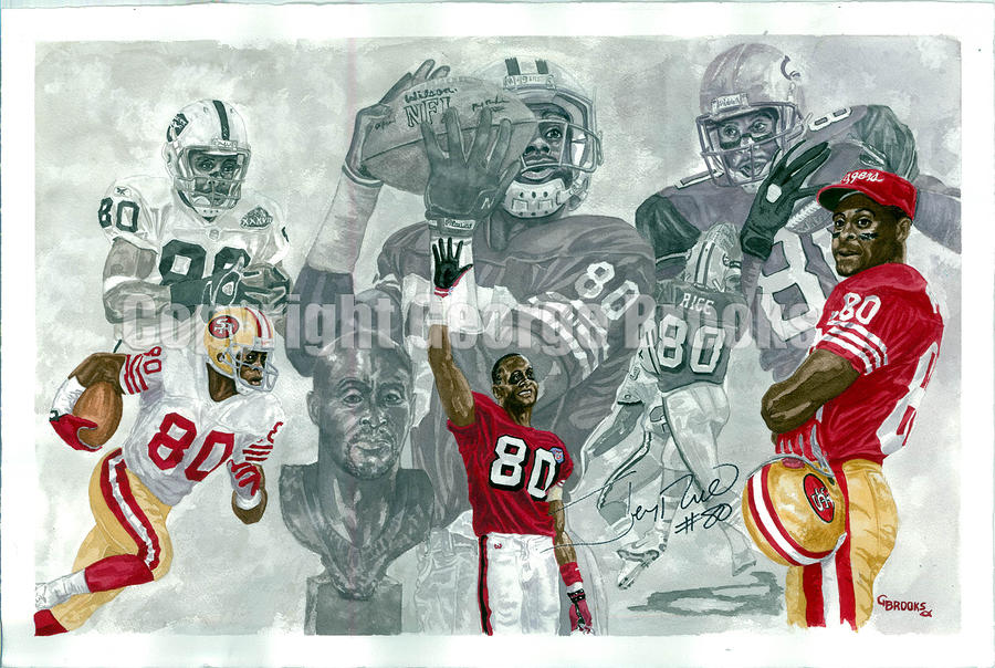 Jerry Rice - Hall Of Fame Collection Painting