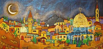 Jerusalem - Light Of The Universe Painting