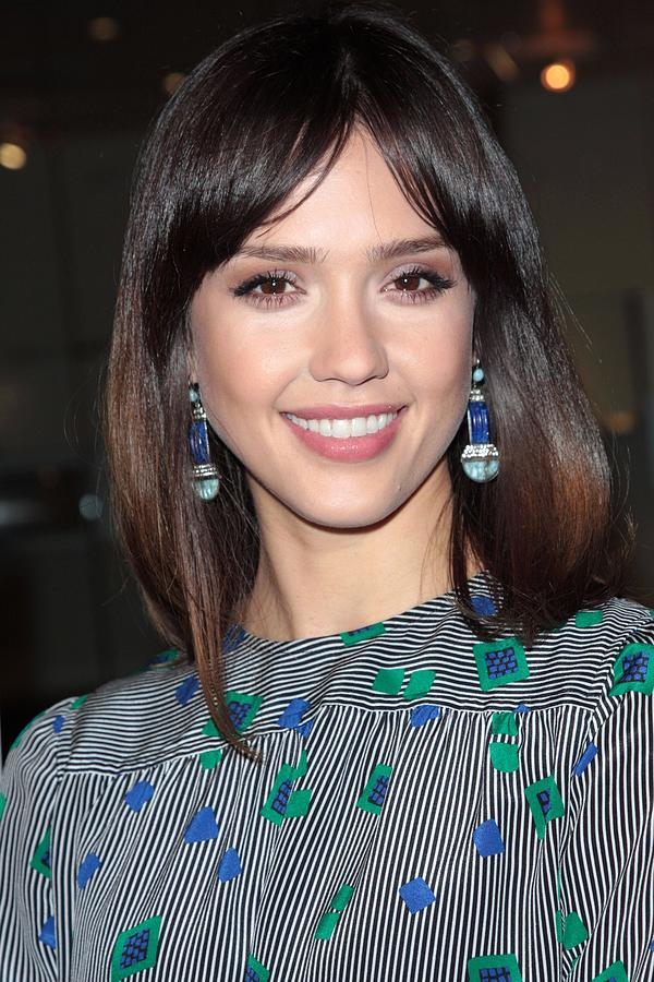 Jessica Alba Wearing Vintage Earrings Photograph  - Jessica Alba Wearing Vintage Earrings Fine Art Print