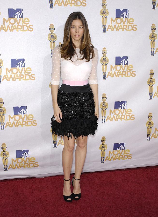 Jessica Biel Photograph - Jessica Biel Wearing A Giambattista by Everett