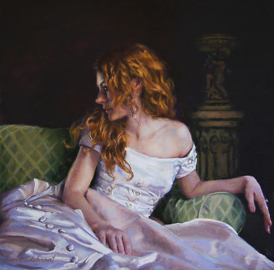 Jessica Daydreaming Painting  - Jessica Daydreaming Fine Art Print
