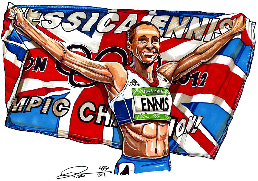 Jessica Ennis Drawing