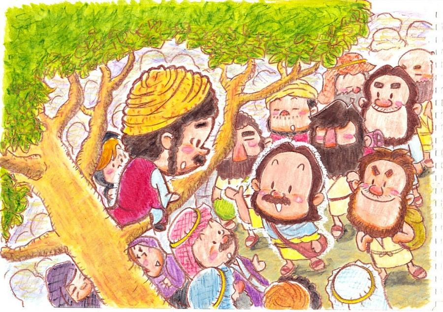 Jesus And Zacchaeus Painting by - 146.9KB