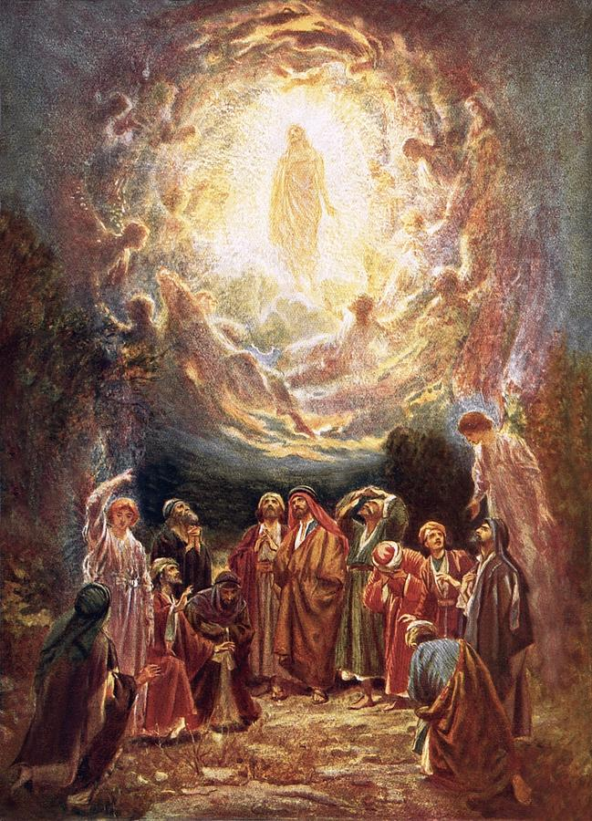 Jesus Ascending Into Heaven Painting  - Jesus Ascending Into Heaven Fine Art Print