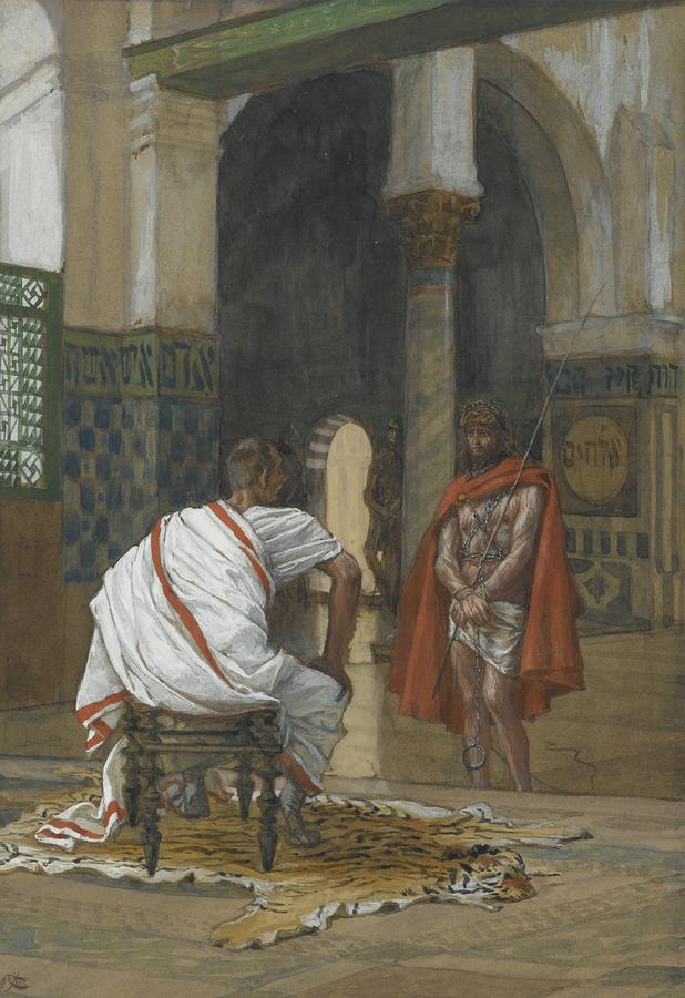 Jesus Before Pilate Painting