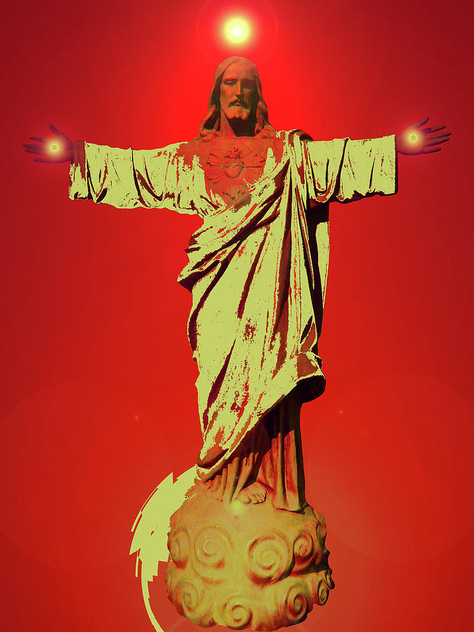 Jesus Bless No. 01 Mixed Media  - Jesus Bless No. 01 Fine Art Print