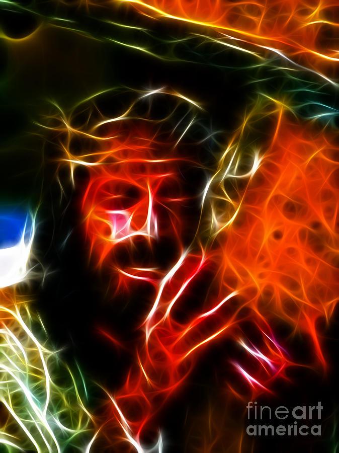 Jesus Carrying The Cross No2 Mixed Media