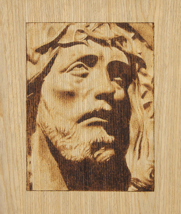 Jesus Christ Pyrography