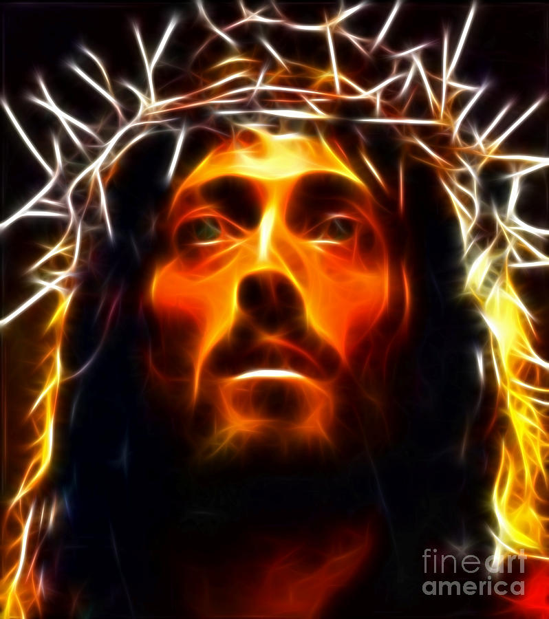 Jesus Christ The Savior Digital Art  - Jesus Christ The Savior Fine Art Print