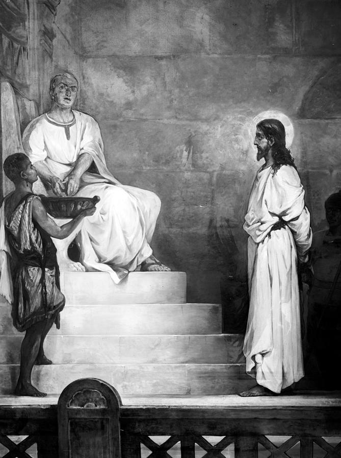 1900s Photograph - Jesus Christ, Title Pontius Pilate by Everett