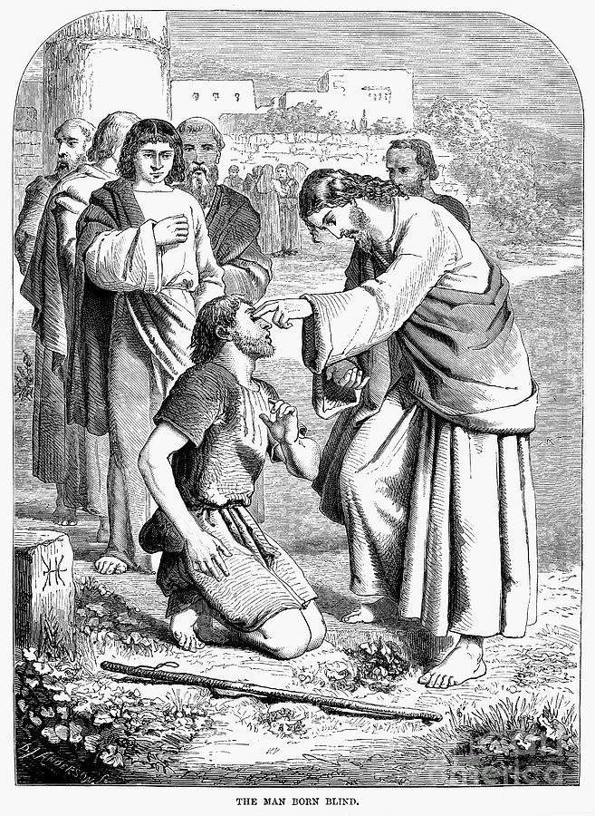 Jesus Blind Man Coloring Page