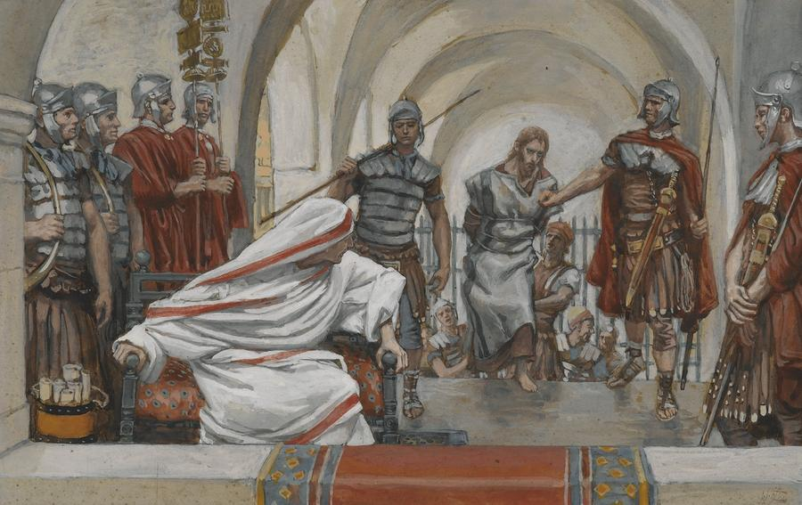 Jesus Led From Herod To Pilate Painting