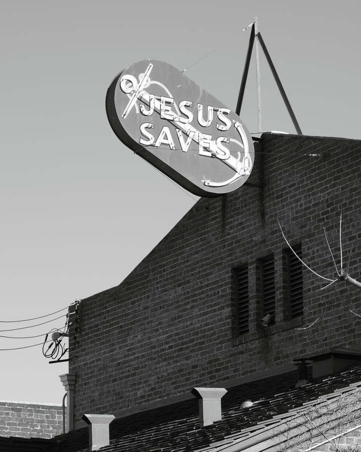 Jesus Saves Stockton Ca Photograph  - Jesus Saves Stockton Ca Fine Art Print