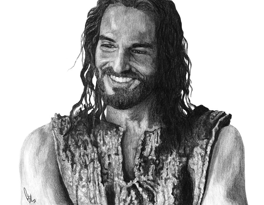 Jesus Smiling Drawing  - Jesus Smiling Fine Art Print