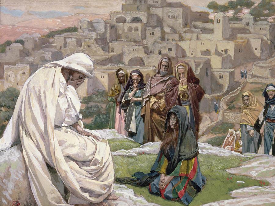 Jesus Wept Painting