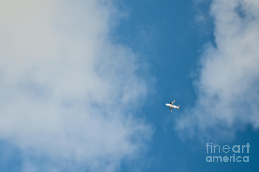 Jet Airplane In Flight Photograph  - Jet Airplane In Flight Fine Art Print