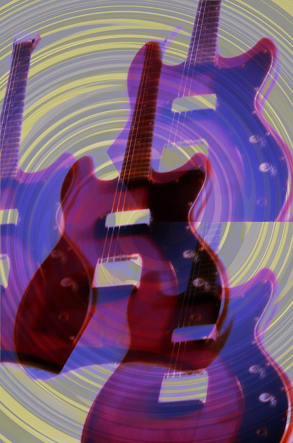 Guitar Photograph - Jet Screamer - Guild Jet Star by Bill Cannon