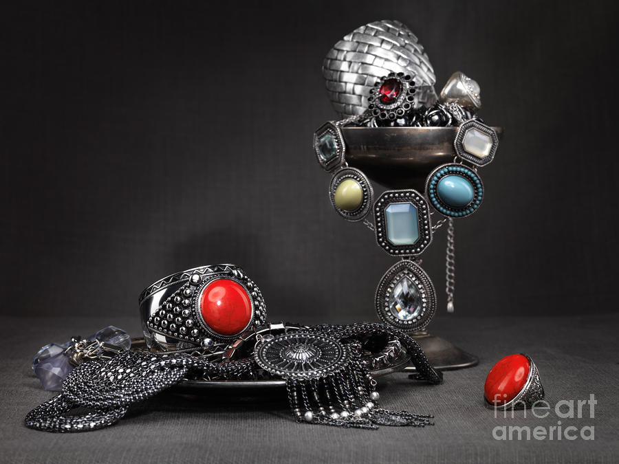 Jewellery Still Life Photograph  - Jewellery Still Life Fine Art Print