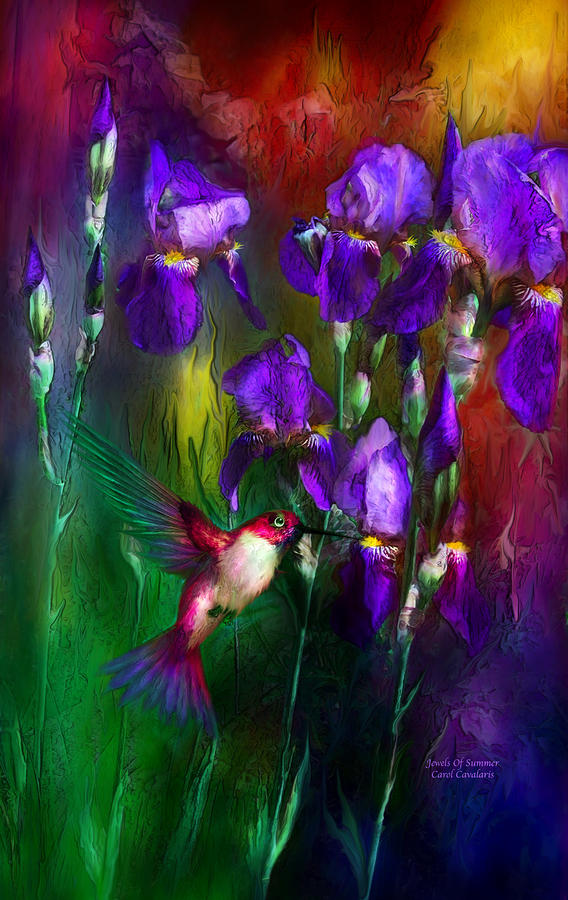 Jewels Of Summer Mixed Media  - Jewels Of Summer Fine Art Print