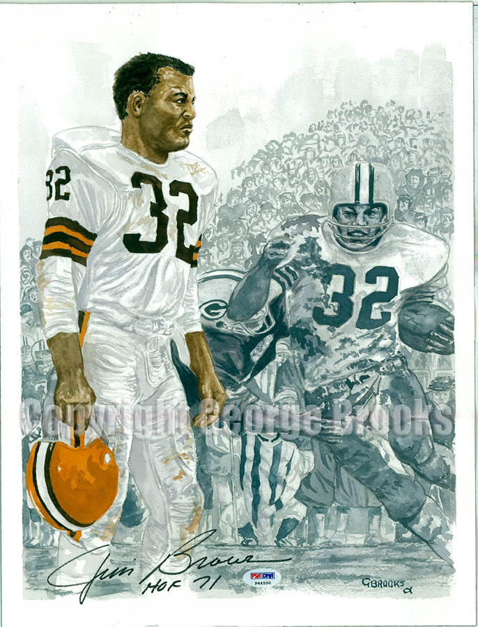 Jim Brown - Hall Of Fame Portrait Painting