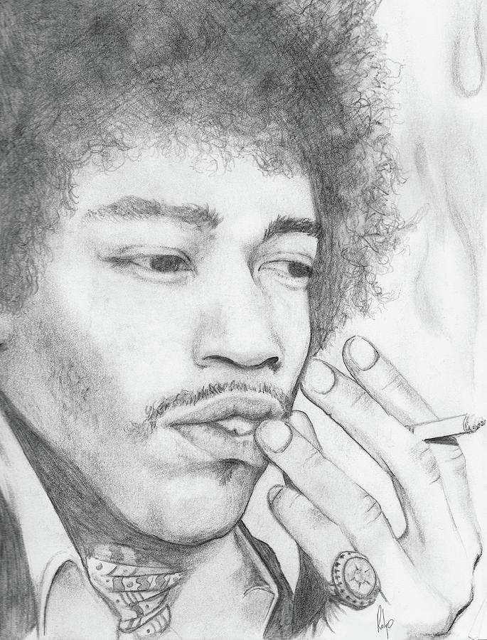 Jimi Hendrix Artwork Drawing  - Jimi Hendrix Artwork Fine Art Print