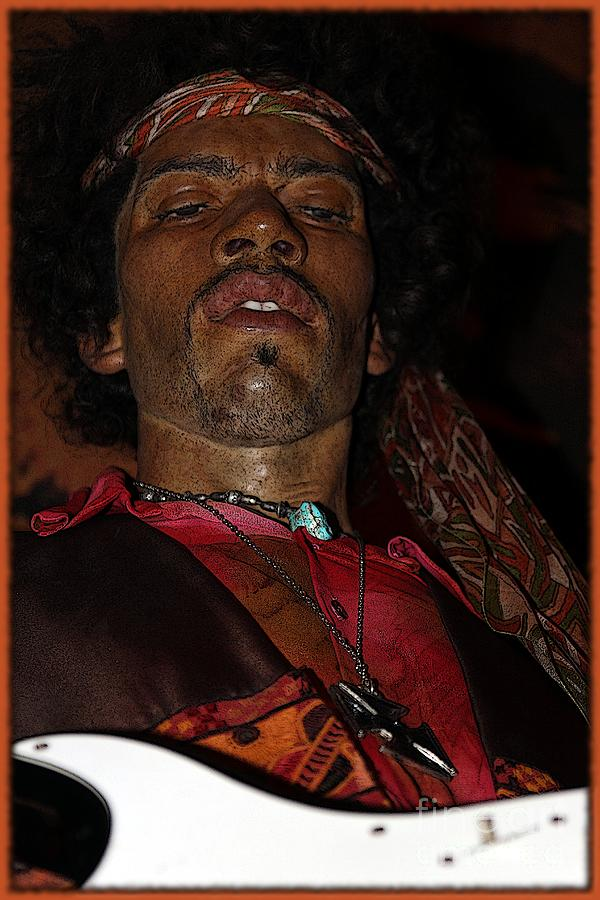 Jimi Hendrix Cartoon Photograph