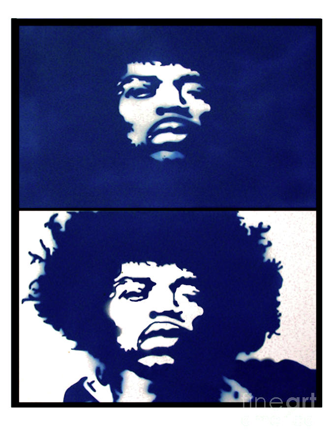 Jimi Hendrix Kinda Blue Digital Art