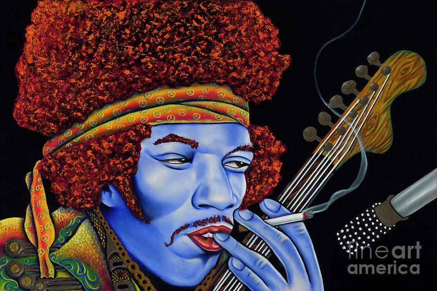 Jimi In Thought Painting