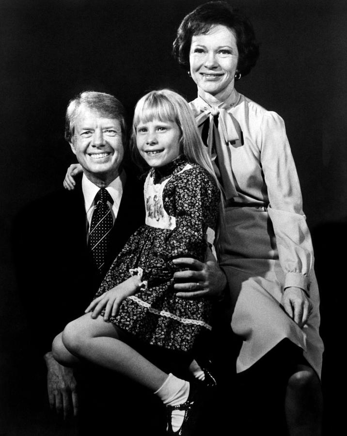 Jimmy Carter, Amy Carter And Rosalynn Photograph