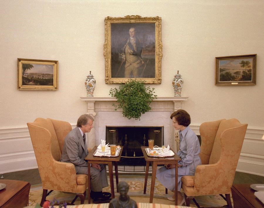 Jimmy Carter And Rosalynn Carter Having Photograph  - Jimmy Carter And Rosalynn Carter Having Fine Art Print