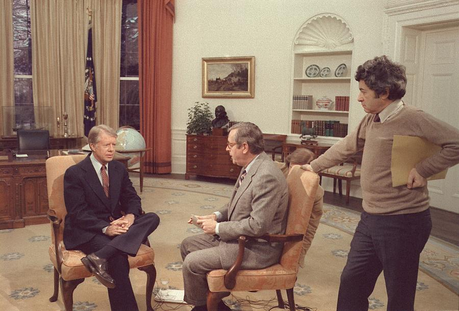Jimmy Carter Prepares For An Interview Photograph