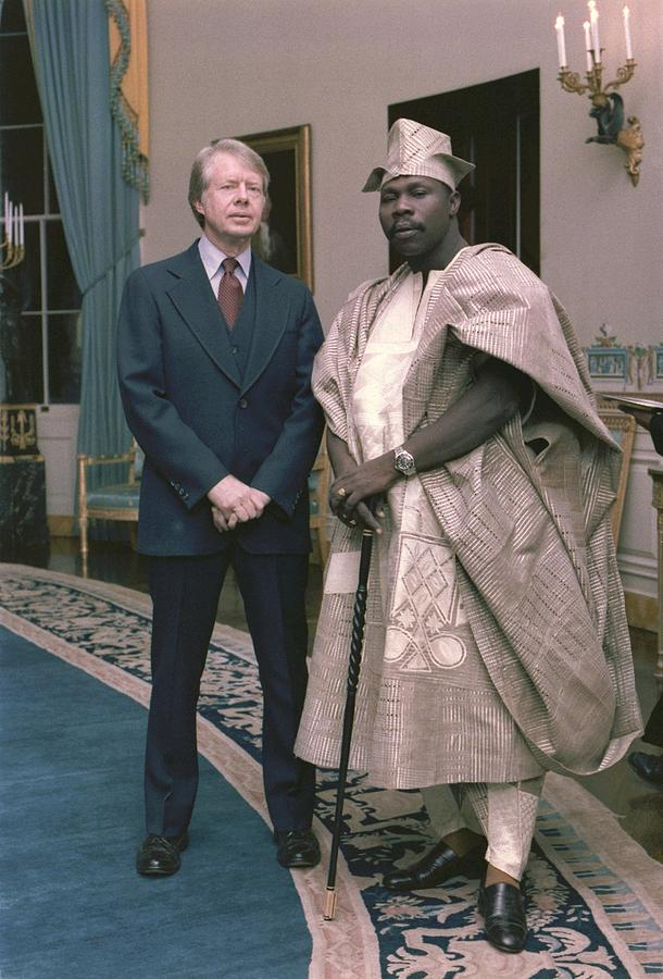 Jimmy Carter With Nigerian Ruler Photograph
