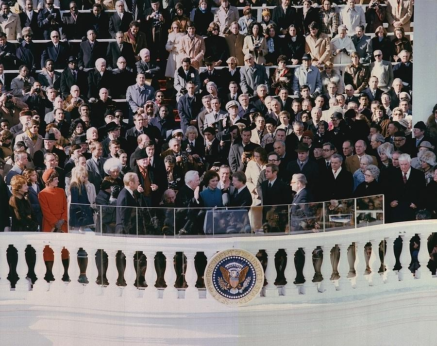 Jimmy Carters 1976 Inauguration Photograph  - Jimmy Carters 1976 Inauguration Fine Art Print