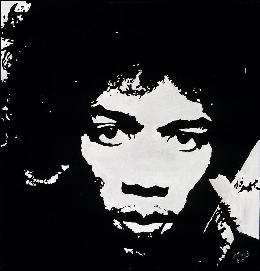 Jimmy Hendrix Painting  - Jimmy Hendrix Fine Art Print