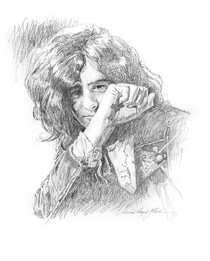 Jimmy Page In Person Painting