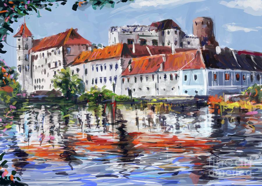 Jindrichuv Hradec City Painting