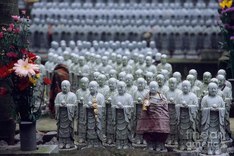 Jizo Statues At Hase-dera Temple Photograph