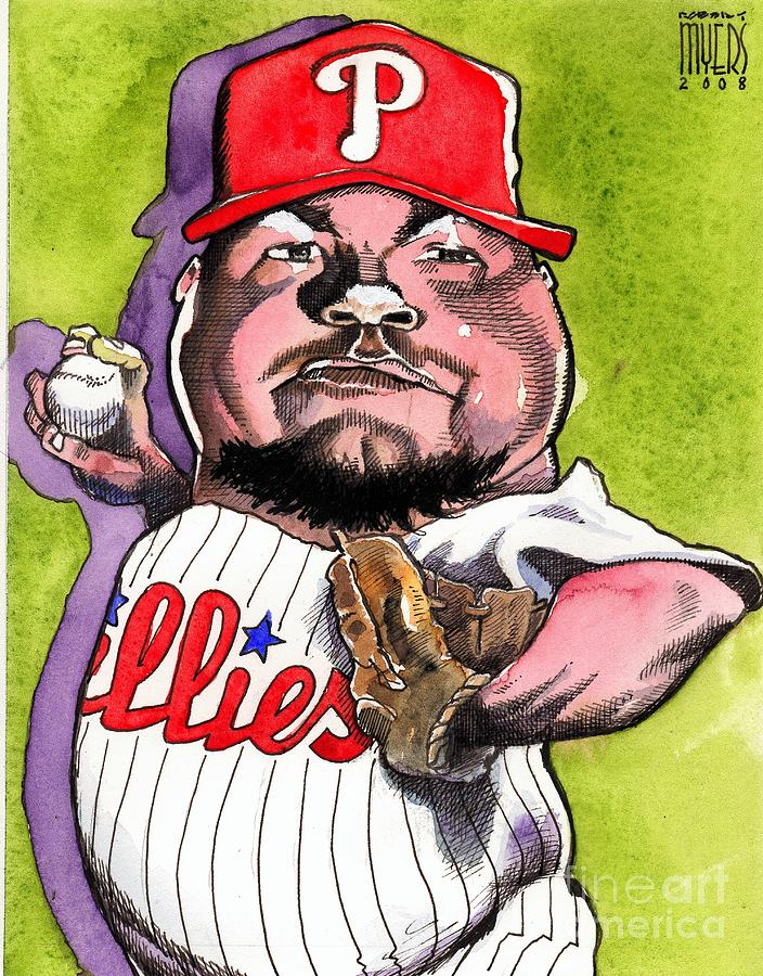 Joe Blanton -phillies Painting  - Joe Blanton -phillies Fine Art Print