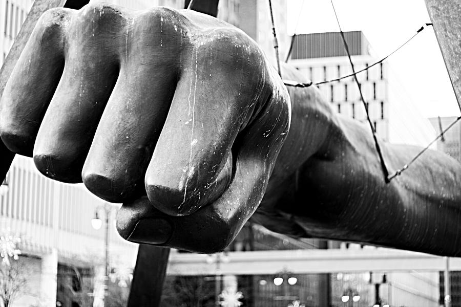 Joe Louis Fist - Detroit Photograph