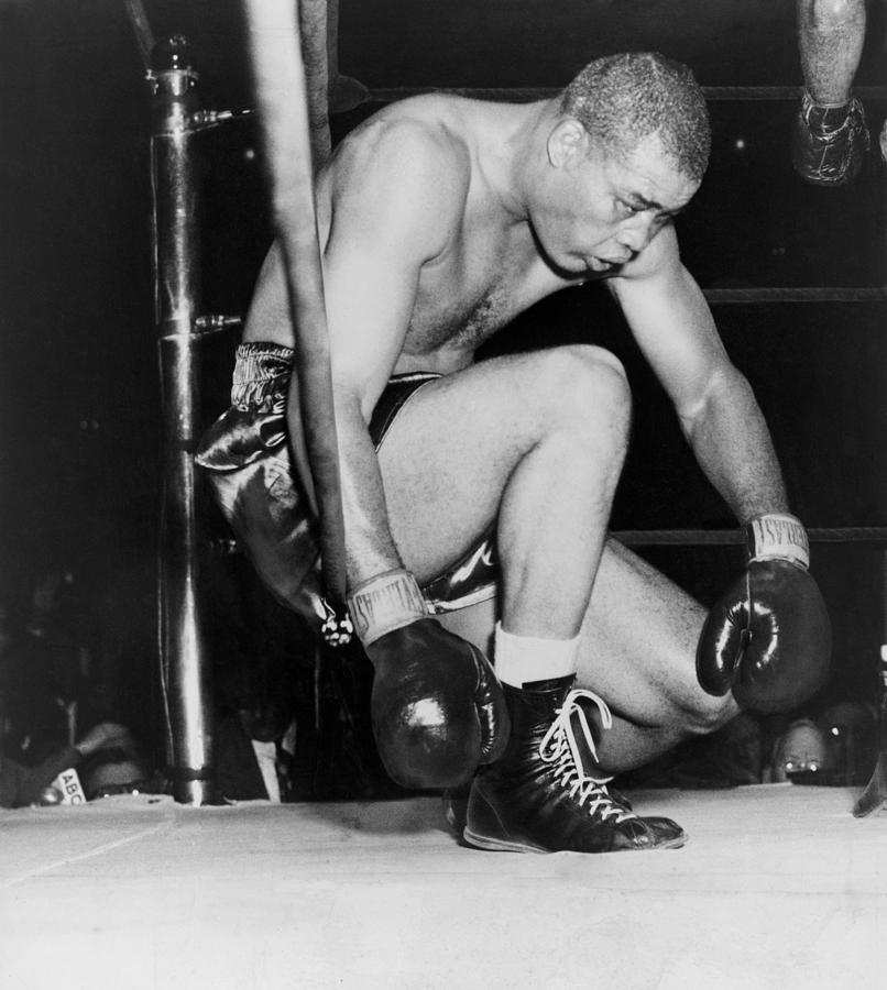 Joe Louis Last Professional Boxing Photograph  - Joe Louis Last Professional Boxing Fine Art Print