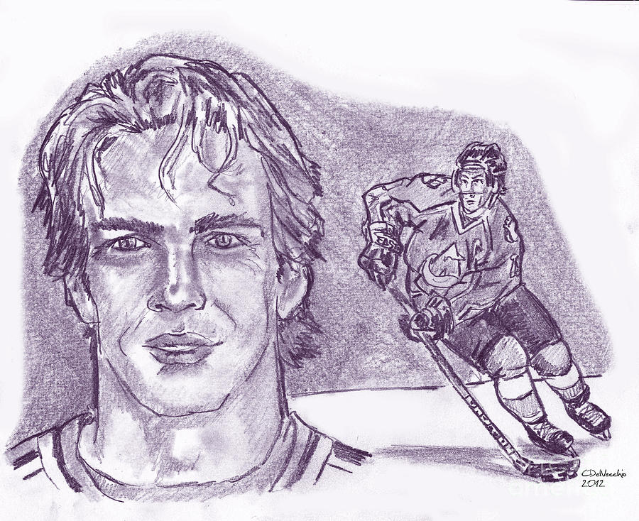 Joe Sakic Drawing