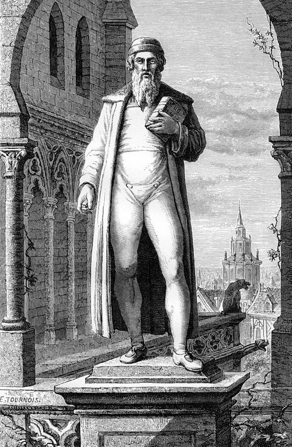 Johann Gutenberg, German Inventor Photograph