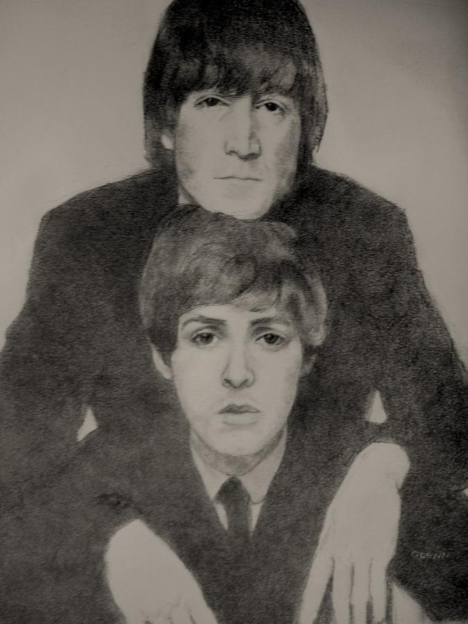 John And Paul Drawing  - John And Paul Fine Art Print
