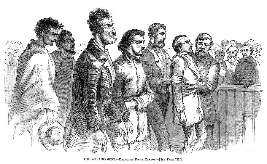 John Brown Trial, 1859 Photograph
