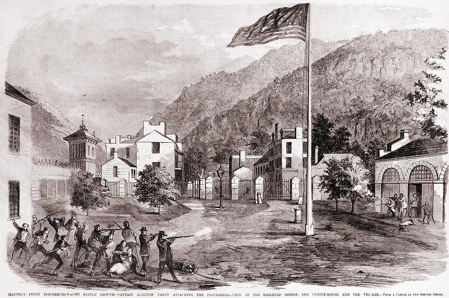 John Browns Harpers Ferry Insurrection Photograph  - John Browns Harpers Ferry Insurrection Fine Art Print