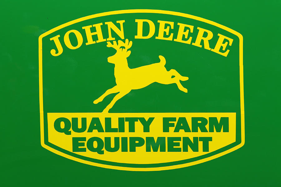 John Deere Farm Equipment Sign Photograph