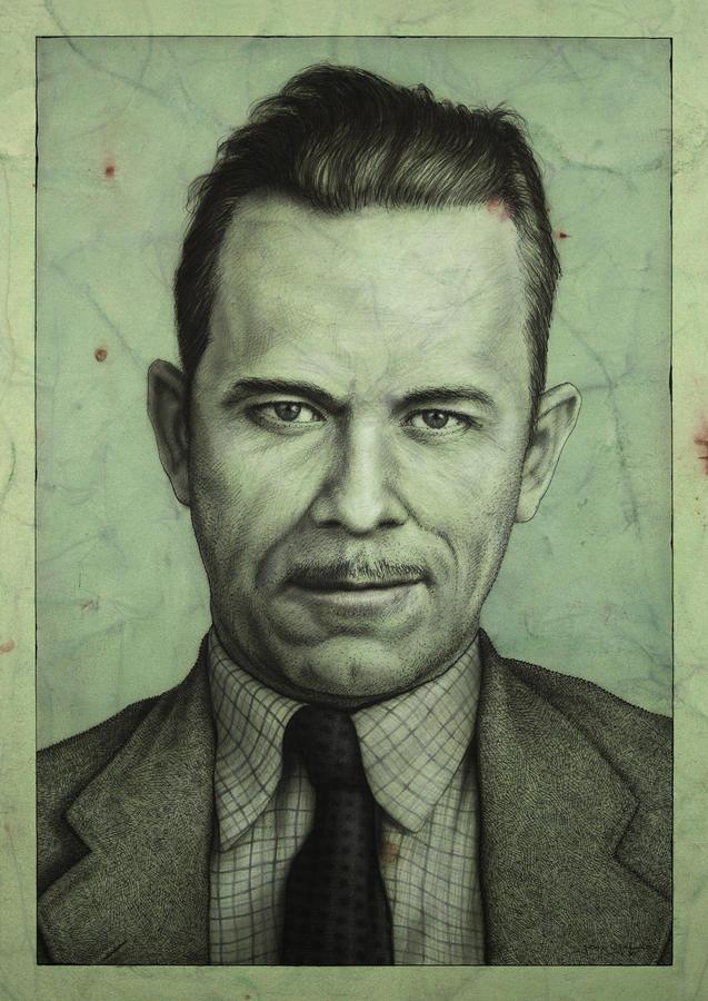 John Dillinger Painting