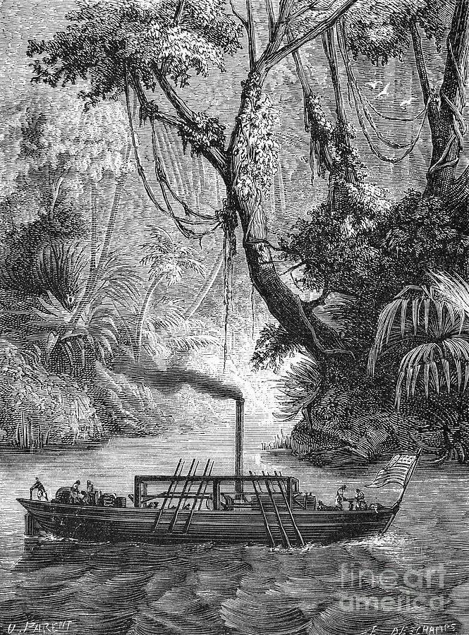 John Fitch Steamboat Photograph